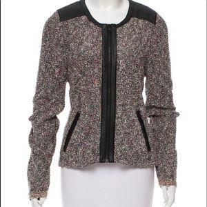 Jackets & Blazers - Rag &Bone leather trimmed boule jacket